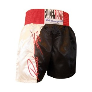SHORT DE BOXEO RUDE BOYS BLANCO.