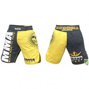 SHORT MMA BUDHA NEGRO Y AMARILLO