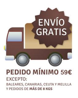 Portes gratis a partir de 59 EUR