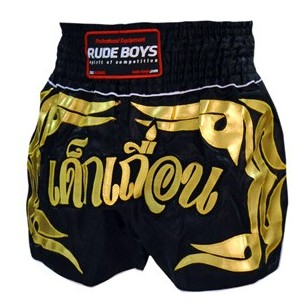 SHORT MUAY TAHI RUDE BOYS NEGRO