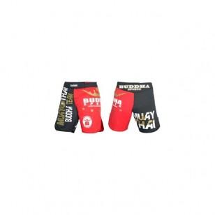 SHORT MMA BUDHA NEGRO Y ROJO