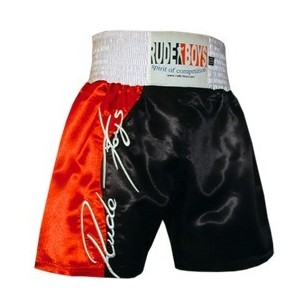 SHORT DE BOXEO RUDE BOYS ROJO