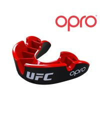 BUCAL UFC OPRO SILVER - red/black