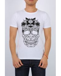 CAMISETA C/S 05 DIAMOND SKULL WHITE